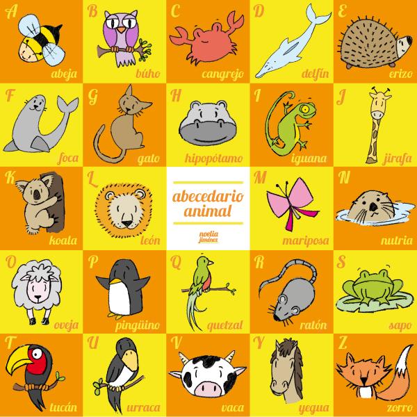 abecedario para visual niños