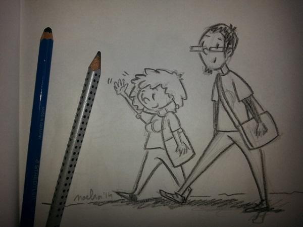 boceto de personajes